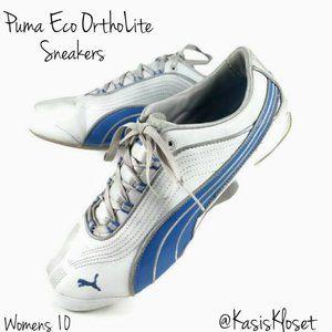 Puma Eco OrthoLite Sneakers Womens 10 Blue & White